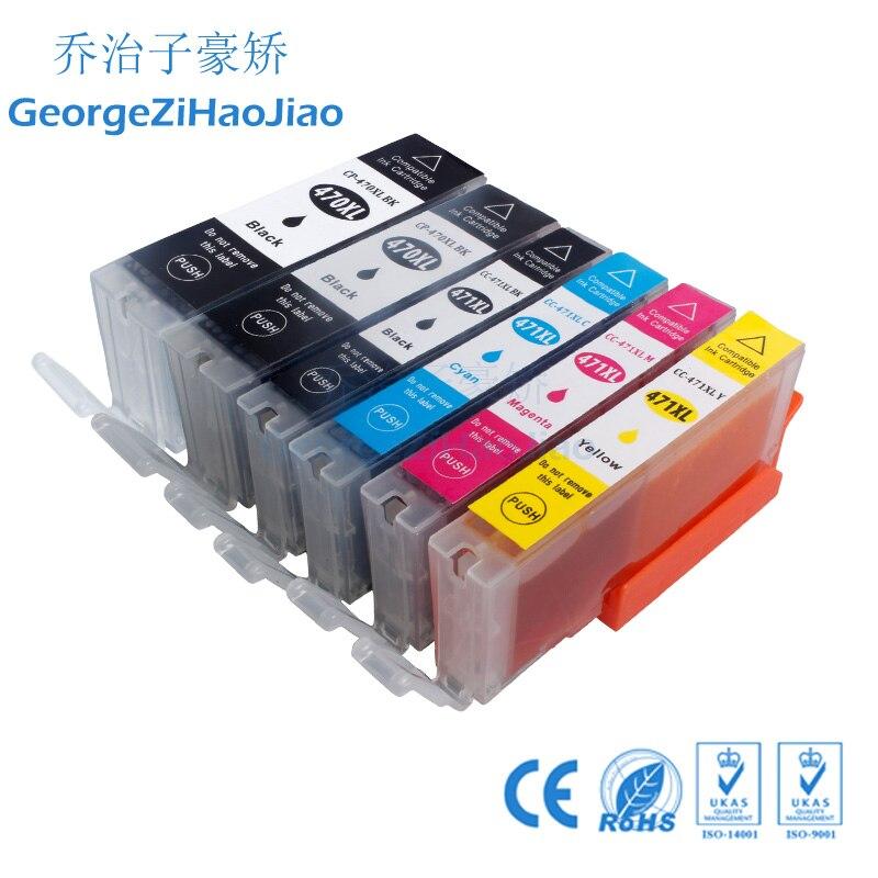1 juego + 1PBK 470XL cartucho de tinta Compatible para impresora canon PIXMA MG5740 MG8640 TS5040 TS6040