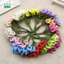 12Pcs/Bouquet Handmade Mini Calla Lily PE foam artificial flowers wedding decoration DIY baroque decoration girlande