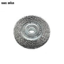 100mm*16mm Arbor Hole Crimped Steel Wire Wheel Brush for Metal Derusting Polishing Deburring