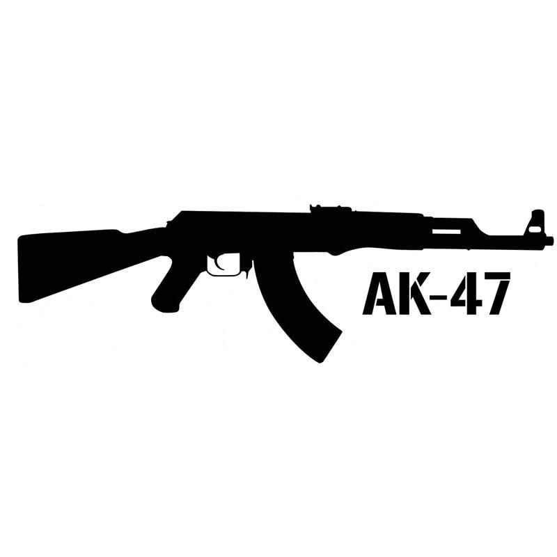 15X4.4CM KALASHNIKOV AK-47 dibujo de rifle coche-estilismo vinilo pegatina coche S8-0072