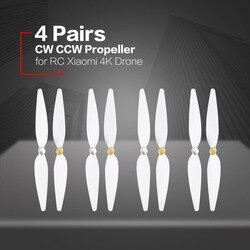 4 пары 10 дюймов для RC xiaomi 4K propeller pervane drone blade propeller аксессуары для xiaomi mi drone 4k propeller white