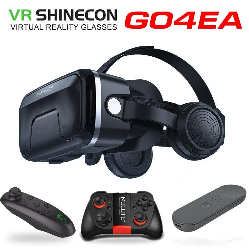 Новейшая обновленная оригинальная VR shinecon 7,0 гарнитура Очки виртуальной реальности 3D VR очки гарнитура для шлема игровая коробка