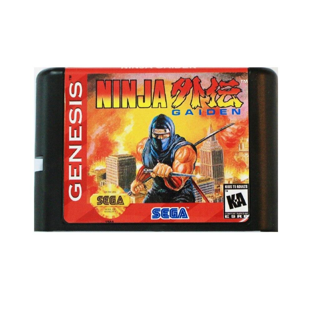 Ninja Gaiden 16 bit tarjeta de juego MD para Sega Mega Drive para SEGA Génesis