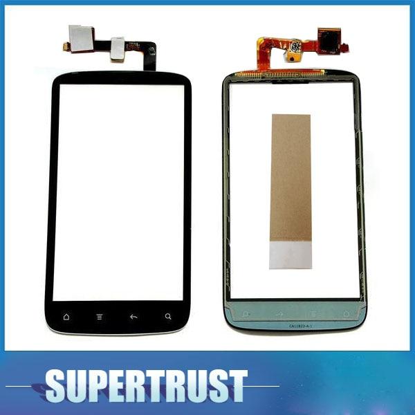 Para HTC sensación 4G G14 Z710E digitalizador de pantalla táctil Lente de Cristal frontal de Sensor de Color negro con cinta