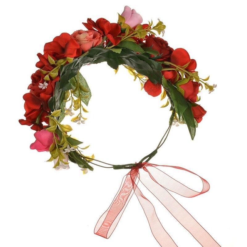 ¡Novedad! diadema Floral con flores rosas iluminadas para mujer y niña, accesorio para el cabello, accesorio para fiesta de Halloween, regalo para boda