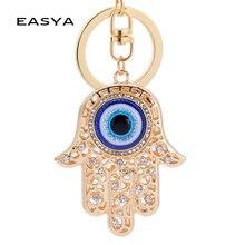 EASYA Hand Evil Eye Lucky Charm Amulet Hamsa Keychains Bag Pendant R Keychains Key Ring Key Holder For Women Girls