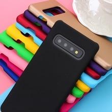 Luxus Gummierte Matte Hartplastik Fall Abdeckung Für Samsung Galaxy S10 S10E S8 S9 Plus Zurück Phone Cases