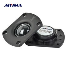 AIYIMA 2 pièces Audio Portable Fièvre Haut-parleurs 8 Ohm 25 W Transparent Soie Film Néodyme Magnétique Tweeter Haut-Parleur