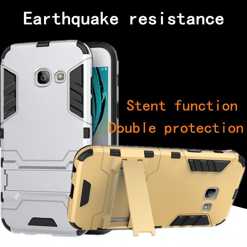 GNMN para Samsung Galaxy A5 2017 a520f A5200 soporte de protección de la funda del teléfono móvil protección contra caídas carcasa dura