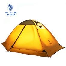 힐맨 4 시즌 더블 레이어 알루미늄 폴 초경량 2 인 사용 통기성 캠핑 텐트 barraca with snow skirt