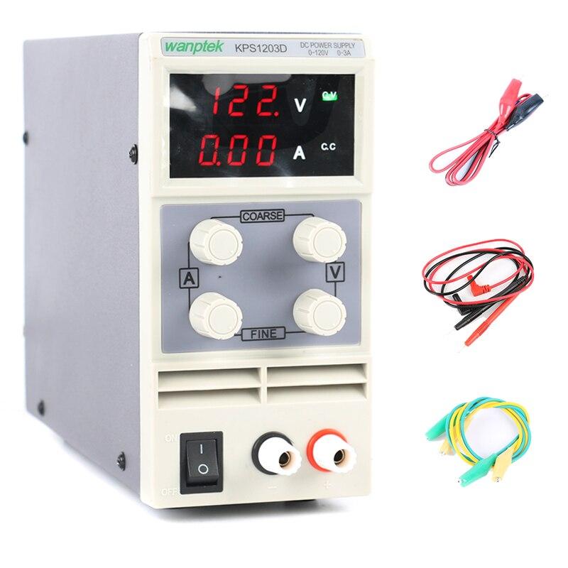 120V 1A 2A 3A Регулируемый цифровой источник питания постоянного тока 110V 220V импульсный источник питания 0,1 V/0.01A US/EU/AU Plug