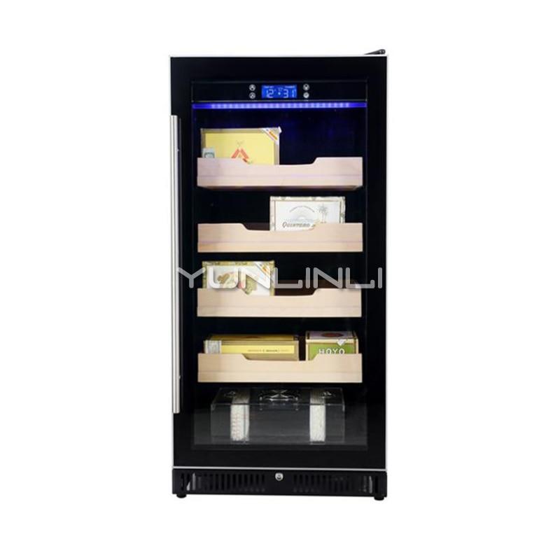 Electric Single Door Cigar Cabinet Single Temperature Intelligent Display Cigar Cabinet 4Level HM-80XC