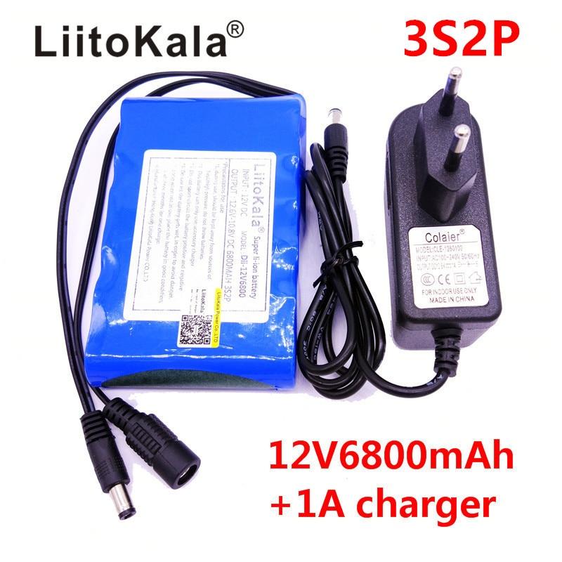 HK LiitoKala Высокое качество DC 12V 6800mAh 18650 литий-ионная аккумуляторная батарея зарядное устройство для GPS камеры автомобиля