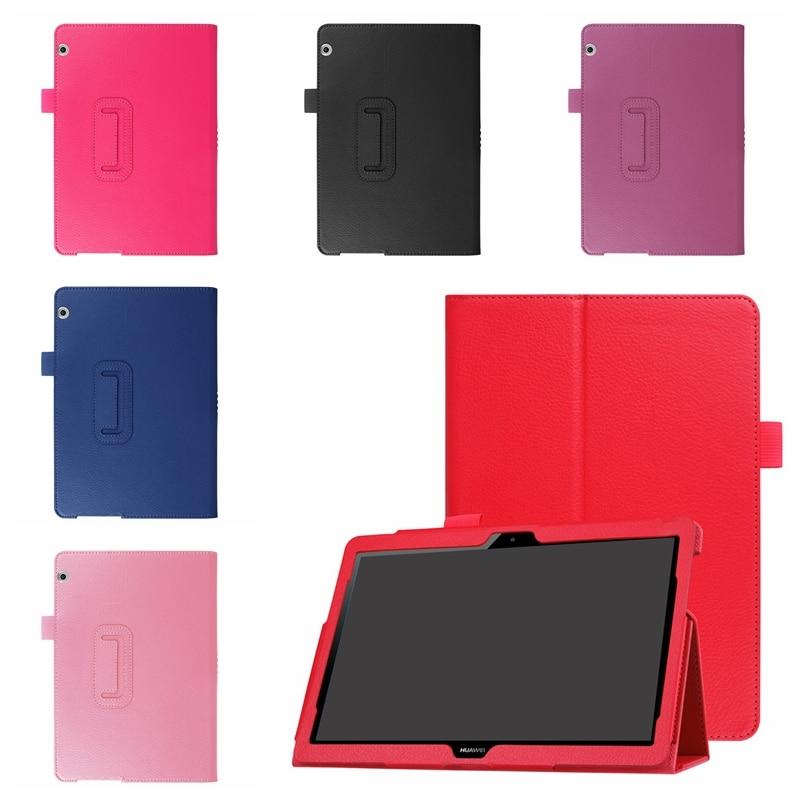 """Ultra Slim skórzany pokrowiec do Huawei MediaPad T3 10 AGS-L09 AGS-W09 9.6 """"Tablet uchwyt inteligentny pokrowiec do Huawei Mediapad T3 10 przypadku"""