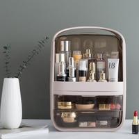 Waterproof Makeup Organizer Acrylic Cosmetic Storage Box Detachable Desktop Organizer Transparent Drawer Beauty Boxes Suitcase