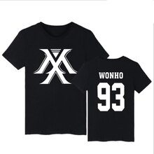 Korean k-pop monsta x album I.M JOOHEON MINHYUK WONHO YOOKIHYUN Harajuku Cotton Short Sleeve T Shirt Women Men KPOP Clothing 4XL