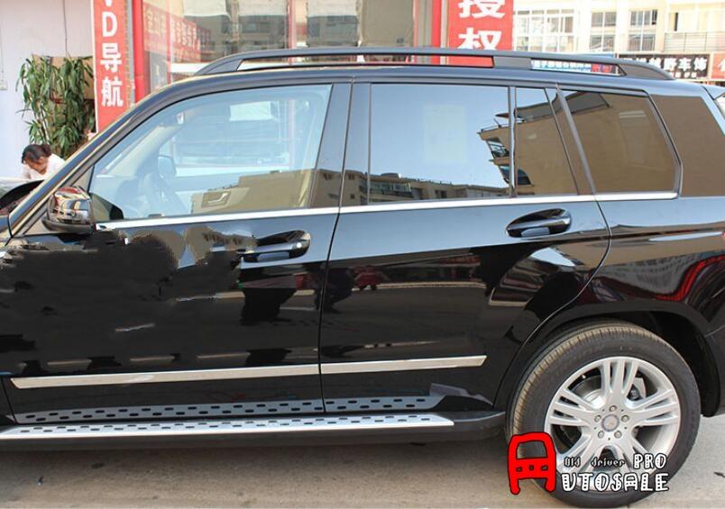 For Mercedes-Benz GLK-Class X204 2008-2015 Shiny ABS Chrome Side Door Body Molding Bottom Cover trim