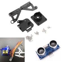 1 pièces Module à ultrasons HC-SR04 + 1 pièces 9G SG90 servomoteur + 1 pièces FPV dédié Nylon PTZ pour Kit Arduino