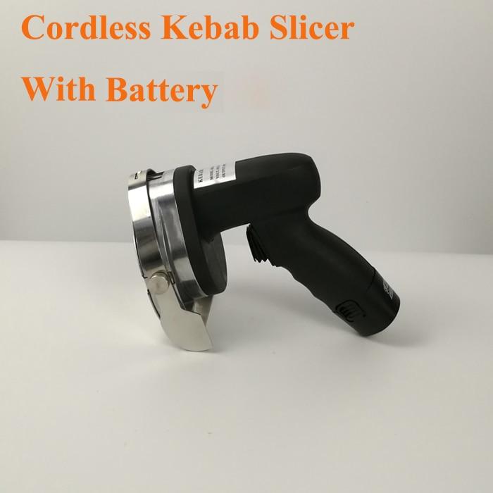 Cuchillo de Kebab profesional inalámbrico eléctrico de Shawarma Doner, rebanador de Kebab, cortador de cuchillos Gyros