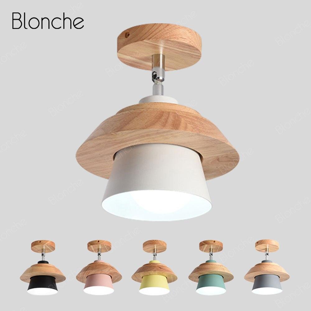 modernas luzes de teto nordic rotativo madeira lampada do teto lampada de iluminacao