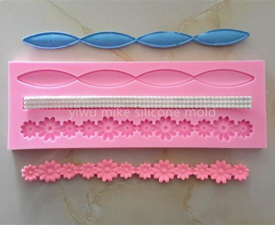 ANGRLY Выпекать инструмент Фабрика магазин торт Силиконовые помадные формы для украшения торта инструменты силиконовые формы украшения торт...