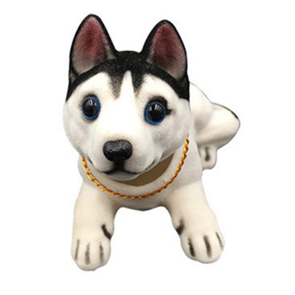 Adornos muñecos para coche perro Husky Bobble cabeza perro tablero adornos para coche cabeza temblorosa perro accesorios coche Bobblehead columpio perro