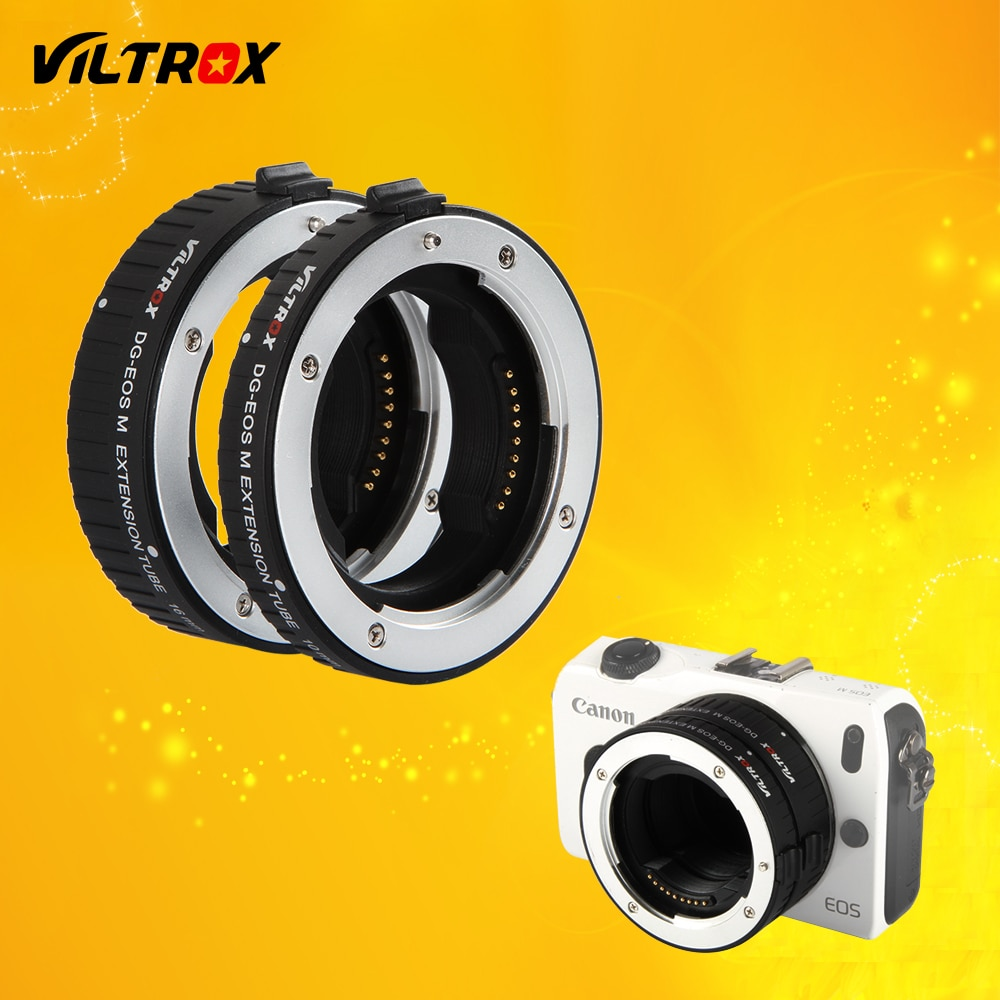 Viltrox DG-EOS M Auto Focus Macro Extension Tube Lens Adapter für Canon EOS M objektiv EOS M EF-M M2 m3 M5 M6 M10 M50 M100 Kamera