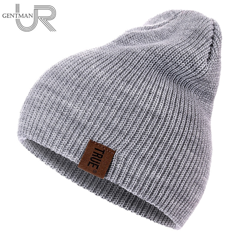 1 Pcs Hat PU Letter True Casual Beanies for Men Women Warm Knitted Winter Hat Fashion Solid Hip-hop Beanie Hat Uni Cap