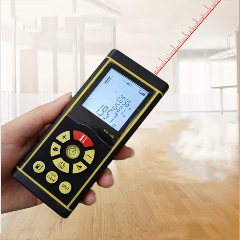 Voice Charging Laser Range Finder 40M / 60M / 80M / 100M Digital Laser Range Finder Laser Roulette Ruler Measurement Tool