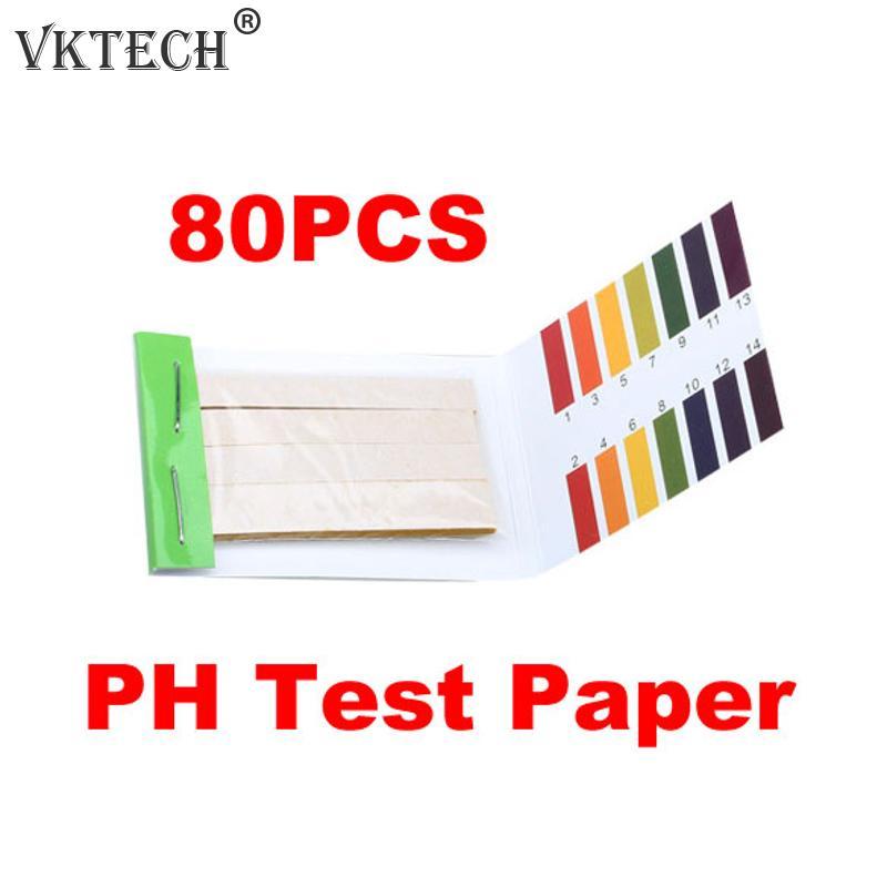 80 Strips PH Test Strip Aquarium Pond Water Testing PH Litmus Paper Full Range Alkaline Acid 1-14 Test Paper Litmus Test