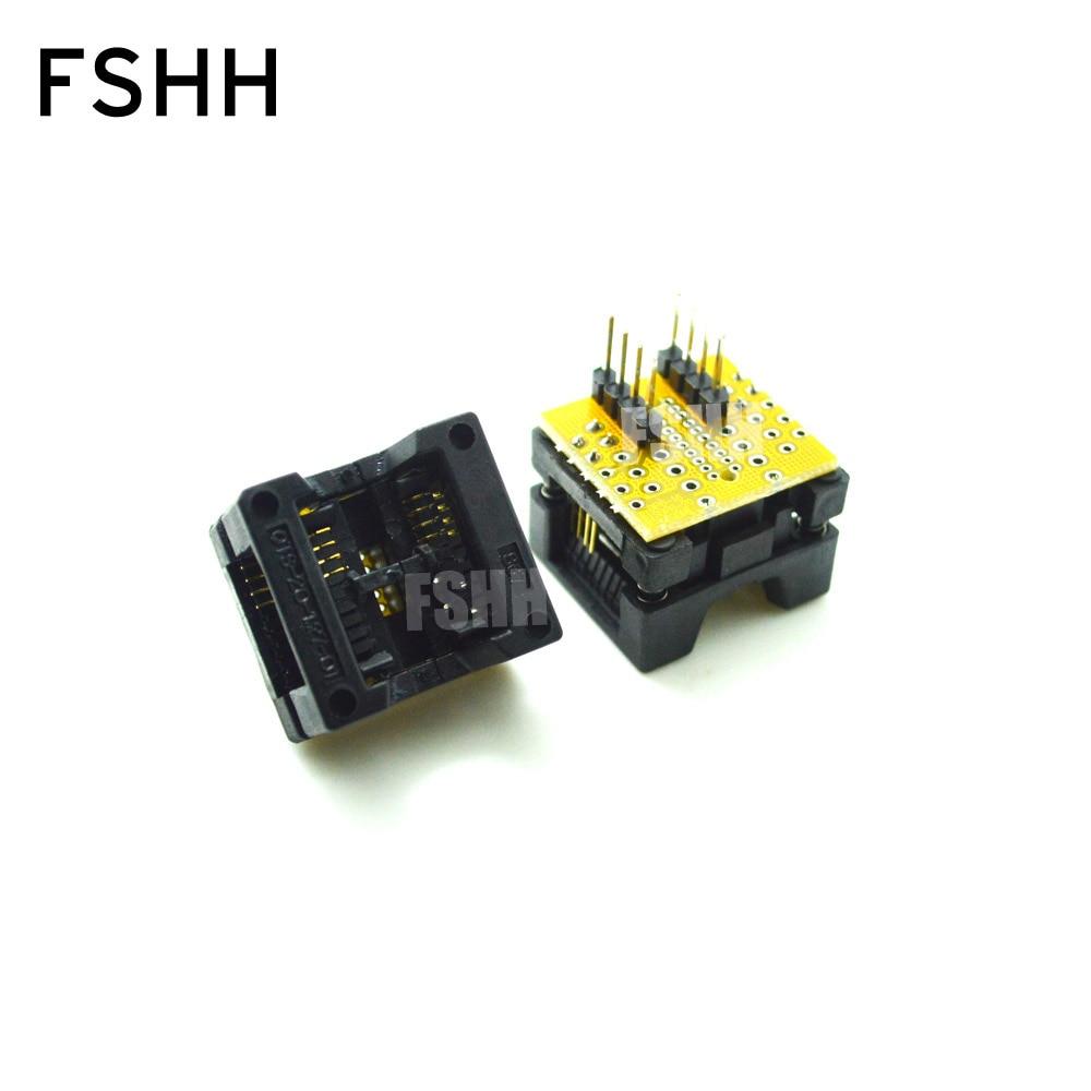 op77az op77az 883q dip8 SO8 SOP8 To DIP8 SOP8 Turn DIP8 IC Programmer Adapter Socket  Wide 200miL 208Mil for SPI FLASH  EEPROM