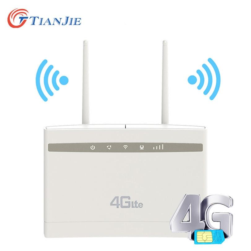 Tianjie Entriegelt Wireless 300Mbps 4G LTE CPE Wi-fi Router Modem mit LAN port sim karte slot SMA port externe antennen Dongle