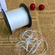 Ruban blanc en soie pure non teinte   4mm 50m 100m par rouleau, pour broderie et projet artisanal, livraison gratuite