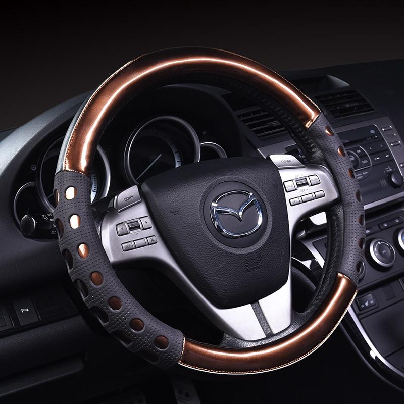 Personalizado antiderrapante moda cobertura de volante para mazda 3 horse 6 2cx-5 capa de carro volante