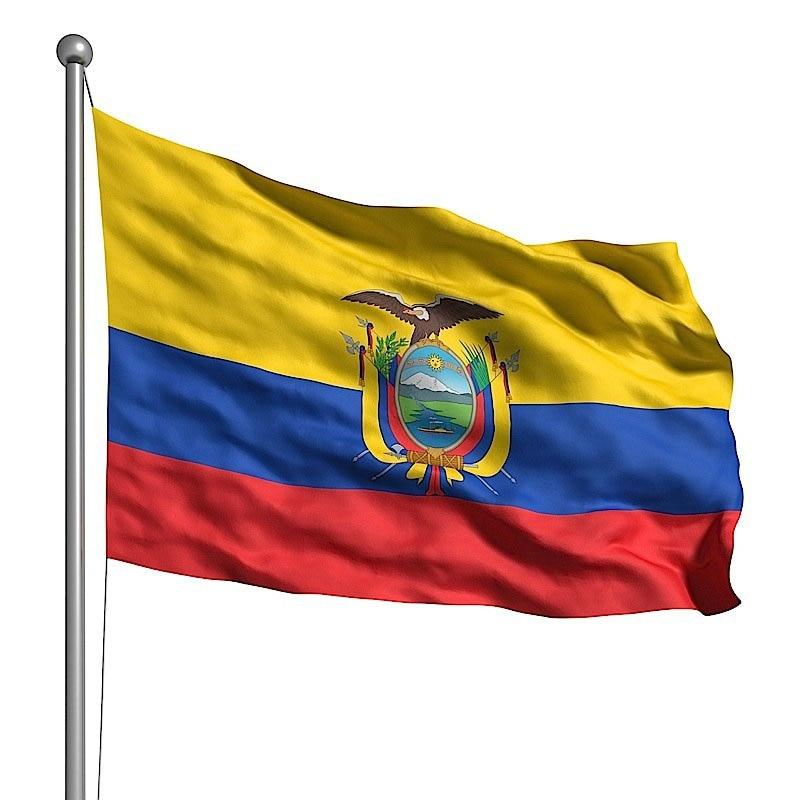 La República de la bandera de Ecuador 90x150cm Polyesty banderas decorativas Banners...