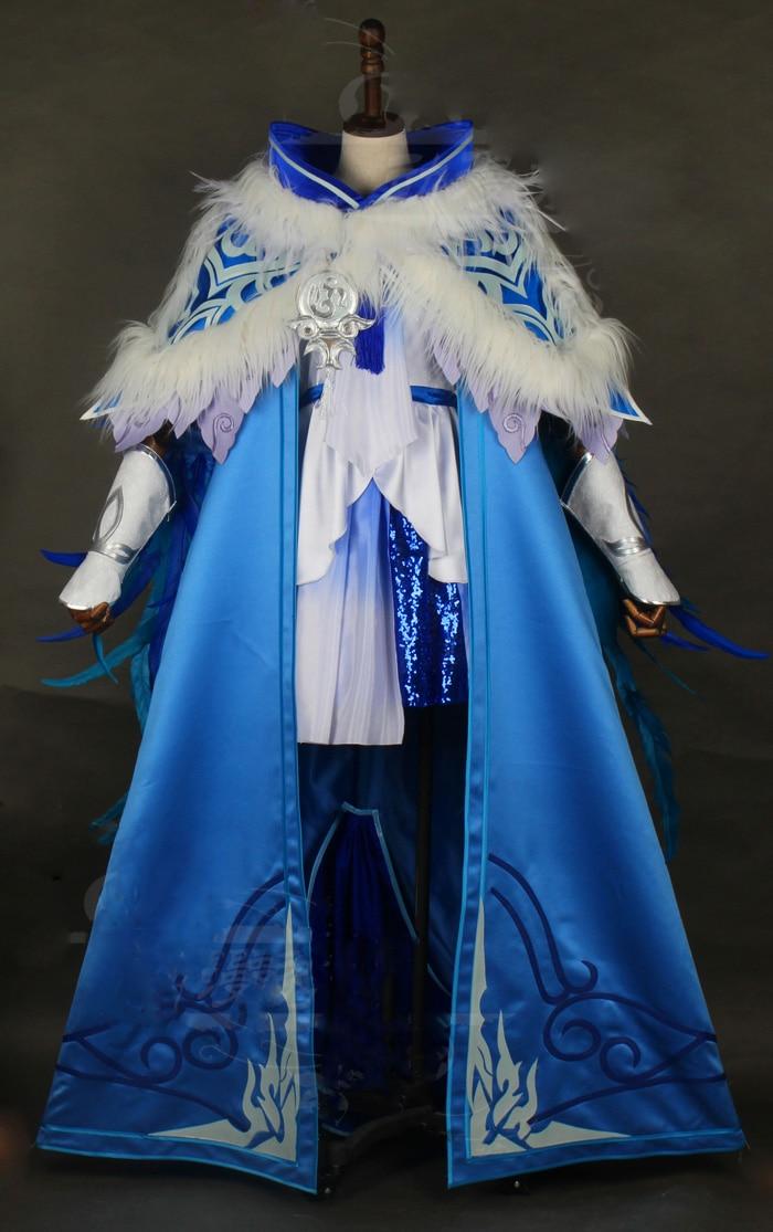 Jian Wang III Cosplay trajes Hanfu caja azul NPC Lolita Junior niña Cosplay trajes Hanfu puede personalizar 3XL 4XL super gran tamaño