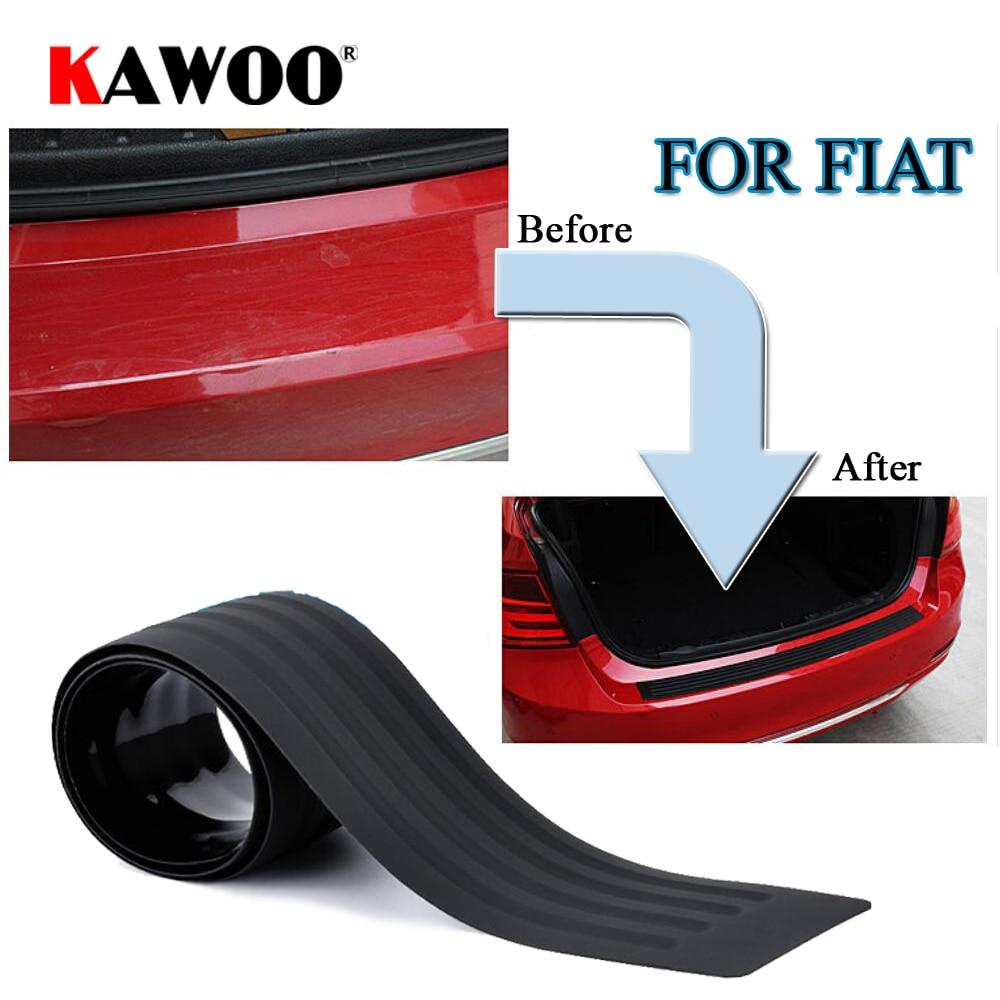 KAWOO para FIAT Scudo Linea BRAVO Idea Panda Doblo Freemont goma para parachoques protector trasero cubierta embellecedora alféizar alfombrilla estilo de coche