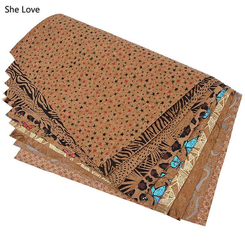 She Love colorido A3 suave tela de corcho 42x30cm diseño de mariposa tela para el hogar ropa de costura Diy ropa materiales textiles