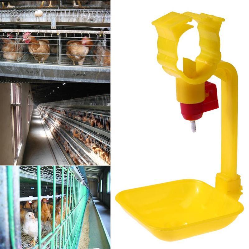 Bebederos automáticos de 10 Uds bebedero para pollos proveedor de agua de alimentación de aves bebederos para aves de corral tazas para beber agua