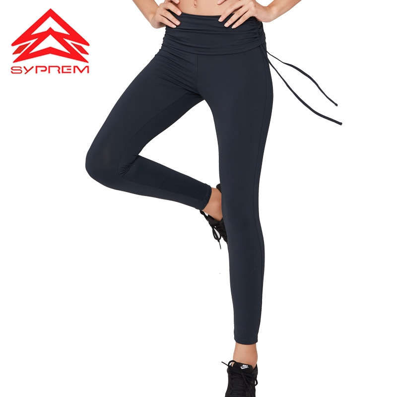 SYPREM Yoga Pants women high waist drawstring yoga purple leggings high elastic lycra new sexy girls yoga pants leggings,YK80129