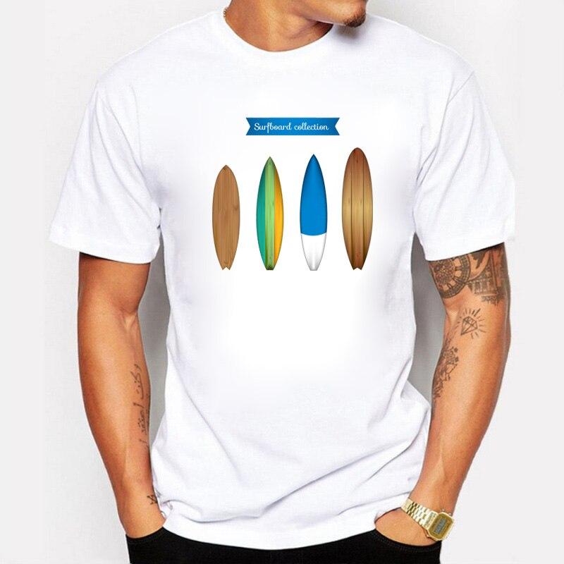 Surfer Lovers, camisetas de verano para hombre, colección de tablas de surf, camiseta de diseño, de manga corta Camiseta de algodón, camisetas para hombre