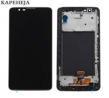 """5.7 """"Per LG Dello Stilo 2 K520 LS775 Display LCD Touch Screen Digitizer Assembly con Telaio Lunetta"""