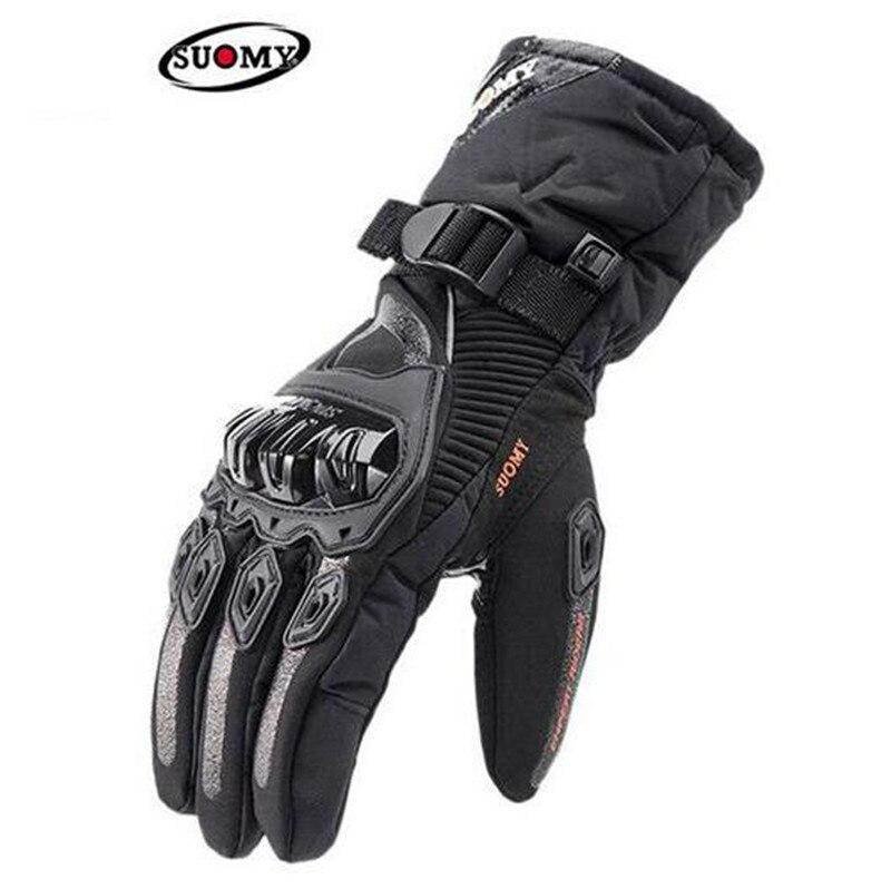 Guantes de Moto SUOMY, 100% para hombre, impermeables, a prueba de viento, Guantes de Moto de invierno, Guantes de Moto Gant, Guantes de Moto