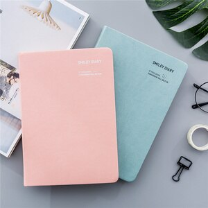2021 Smiling face Cute Korean happy office Notebook planner paper Diary Journal Bujo Stationary Organizer Gift Supplies kawaii