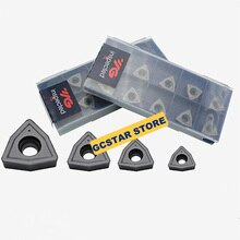 10pcs WCMX040208 WCMX050308 WCMX06T308 WCMX080412 YG602 Carbide Inserts U Drill Bit Blade CNC Lathe Tools