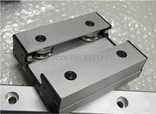 Guía de rodillo de guía lineal de alta velocidad guía lineal externa de doble eje LGD12 con length500mm con bloque LGD12 de 60mm de longitud