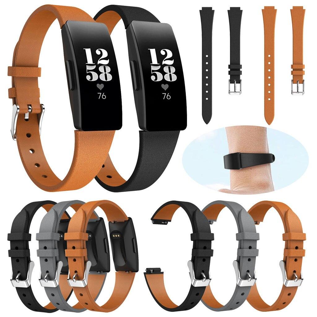 Hiperdeal luxo pulseiras de couro 230mm acessórios de substituição pulseiras para fitbit inspire/inspire hr 19mar21
