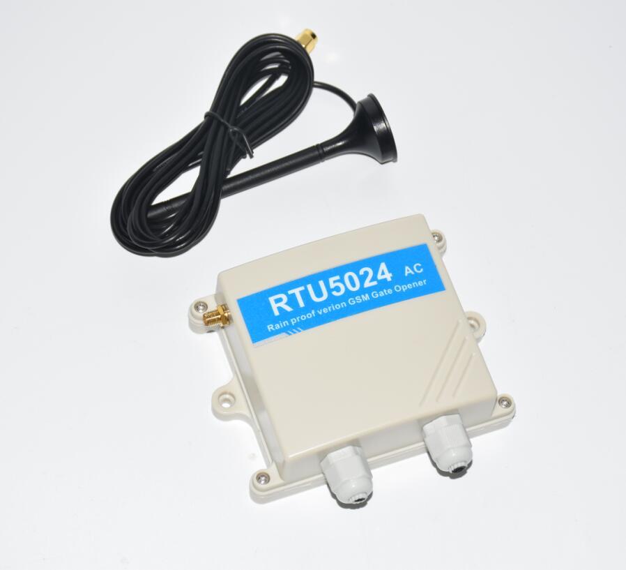 Abrelatas de garaje de CA para exteriores módulo GSM Control remoto controlador de acceso para puerta eléctrica a través de SMS GSM abridor de puerta RTU5024