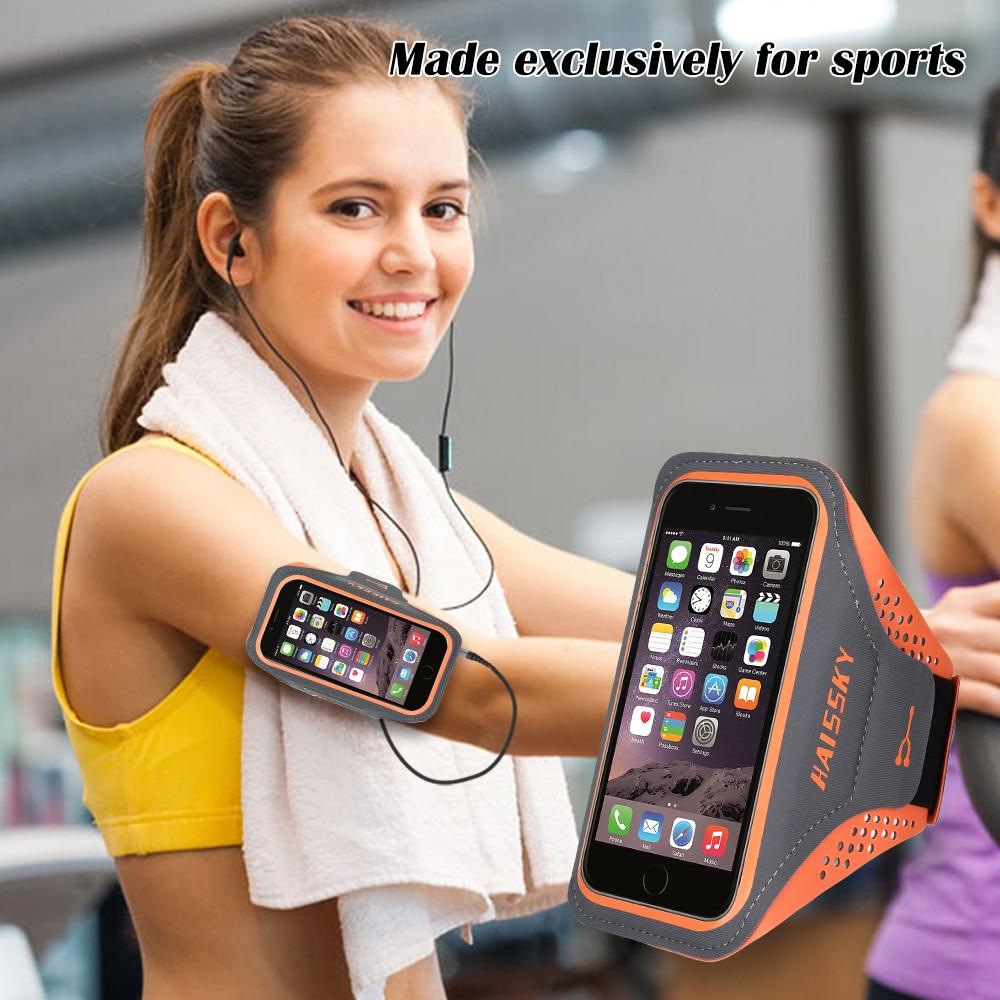 HAISSKY, brazalete deportivo para correr, funda para iPhone XS XR X 6s 7 8 Plus 11 Pro Max, funda protectora para Samsung S20 S10 Plus Xiaomi