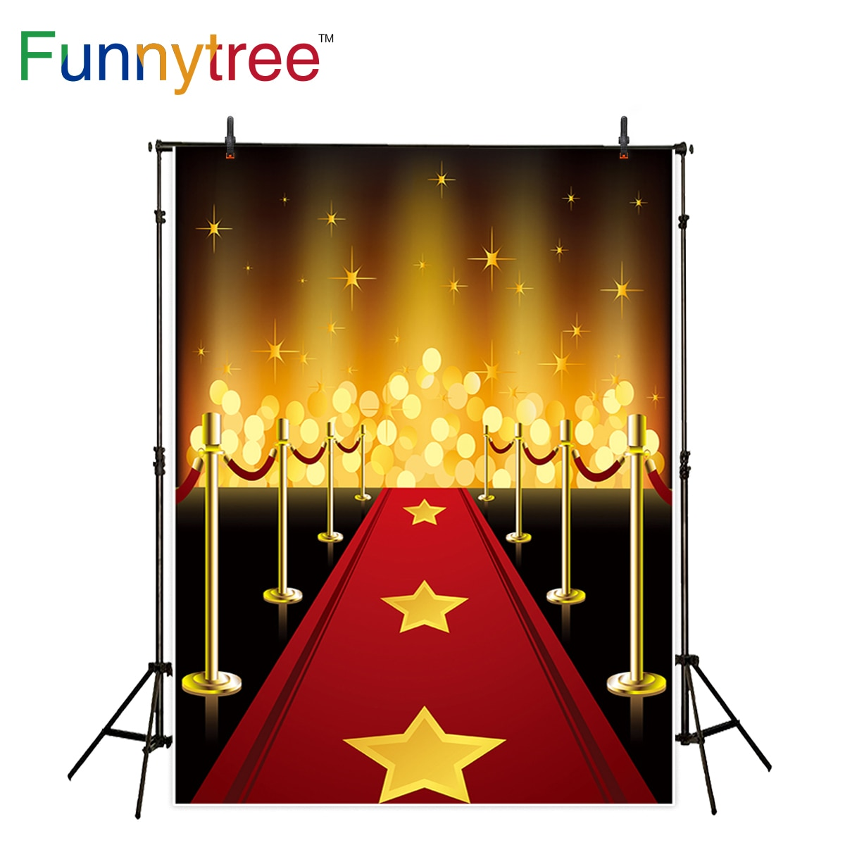 Funnytree telón de fondo para estudio fotográfico superestrellas alfombra roja fiesta brillante halo bokeh Fondo fotografía nueva foto prop